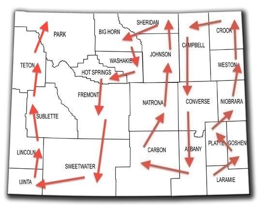 wyoming map - working
